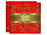 Red and Gold Quinceanera Invitations Elegant Red and Gold Quinceanera Invitations Zazzle