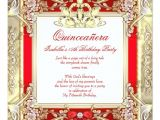 Red and Gold Quinceanera Invitations Princess Quinceanera Gold Red Silver White Invitation Zazzle