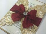 Red and Gold Quinceanera Invitations Red Gold Sweetsixteen Pinteres
