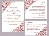 Red and White Wedding Invitation Templates Blank Red Wedding Invitation Template orderecigsjuice Info