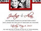 Red and White Wedding Invitation Templates Unavailable Listing On Etsy