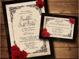 Red and White Wedding Invitation Templates Wedding Invitation Templates Black and Red Wedding