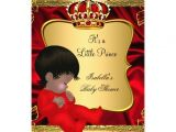 Red Black and Gold Baby Shower Invitations African American Prince Boy Baby Shower Red Gold 5×7 Paper