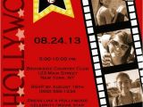 Red Carpet theme Party Invitations Customized Hollywood Red Carpet Invitations