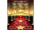 Red Carpet theme Party Invitations Free Royal Red Carpet Birthday Party Invitations Template