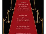 Red Carpet theme Party Invitations Gold Red Carpet Invitations by Invitation Consultants