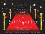 Red Carpet theme Party Invitations Halloween Invite Wording