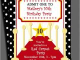 Red Carpet theme Party Invitations Red Carpet Party Invitation Printable or Printed with Free