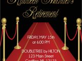 Red Carpet theme Party Invitations Red Carpet theme Retirement Invitation Adult Retirement
