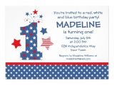 Red White and Blue 1st Birthday Invitations 1 000 Red White and Blue Birthday Invitations