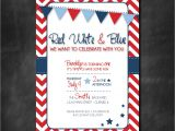 Red White and Blue 1st Birthday Invitations Chandeliers & Pendant Lights