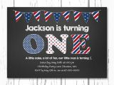 Red White and Blue 1st Birthday Invitations Red White and Blue 1st Birthday Invitations 4th Of July