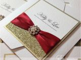 Red White and Gold Wedding Invitations Gold and Red Wedding Invitations Sunshinebizsolutions Com