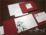 Red White and Gold Wedding Invitations Red Wedding Invitation A Vibrant Wedding