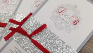 Red White and Silver Wedding Invitations Red White and Silver Wedding Invitations Yourweek