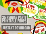 Reggae themed Party Invitations 35 Reggae Props Printables Reggae Photo Booth Props Rasta