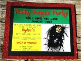 Reggae themed Party Invitations Bob Marley Invitations Bob Marley Birthday Party by