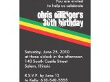 Reggae themed Party Invitations Personalized Rasta Invitations
