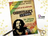 Reggae themed Party Invitations Reggae Birthday Invitation Reggae Invitation Rasta