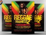 Reggae themed Party Invitations Reggae Madness Flyer Template Flyer Templates Creative