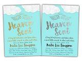 Religious Baby Boy Shower Invitations Amazon Blue Heaven Sent Baby Shower Invitations Boy