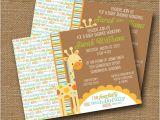 Religious Baby Boy Shower Invitations Giraffe Baby Shower Invitation Diy Printable by