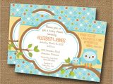 Religious Baby Boy Shower Invitations Owl Baby Shower Invitation Diy Printable Baby Boy Christian