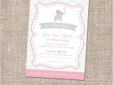 Religious Baby Shower Invitations Items Similar to Elephant Christian Baby Shower Invitation