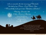 Religious Party Invitations Christian Christmas Party Invitation Three Wise Men Star
