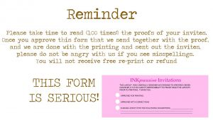 Reminder Invitation for Party Inkpressive Invitations
