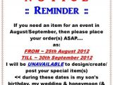 Reminder Invitation for Party Reminder for Birthday Invitation Photos Ebookzdb Com