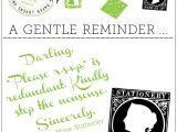 Reminder Invitation for Party Weirdest Wedding Demeter Clarc