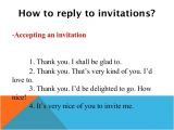 Reply to Birthday Invitation Sample Invitations and Replies to Invitations