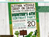 Reptile Birthday Party Invitations Printable Reptile Party Invitation Frog Snake Lizard Invite
