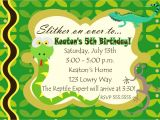 Reptile Party Invites Digital Reptile Snake Photo Birthday Party Invitation You