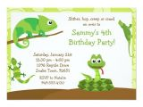 Reptile Party Invites Kids Reptile Birthday Party Invitation Zazzle Com