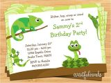 Reptile Party Invites Reptile Birthday Party Invitation