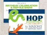 Reptile Party Invites Reptile Party Invitations Snake and Lizard Snake Birthday
