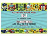 Rescue Bots Party Invitations Items Similar to Transformers Rescue Bots Birthday
