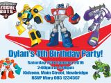 Rescue Bots Party Invitations Personalised Transformers Rescue Bots Invitations
