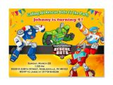 Rescue Bots Party Invitations Transformers Rescue Bots Invitation Transformers Rescue