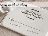 Response Card for Wedding Invitation Wording Response Card Wording for Wedding Invitations