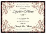 Retirement and Birthday Party Invitation Wording Retirement Party Invitation Wording
