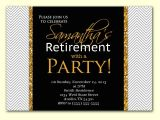 Retirement Party Invitation Examples Retirement Party Invitation Template