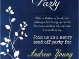 Retirement Party Invitation Examples Retirement Party Invitation Wording Ideas and Samples