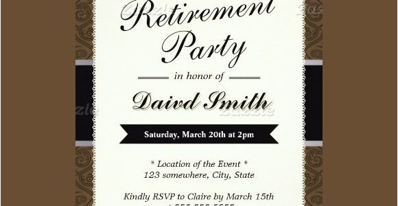 Retirement Party Invitation Template Ms Word Free 17 Retirement Party Invitations In Illustrator Ms