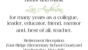 Retirement Party Invitation Wording Free Retirement Invitations Template
