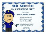 Retirement Party Invitation Wording Funny Funny Police Officer Retirement Invitation Zazzle Com