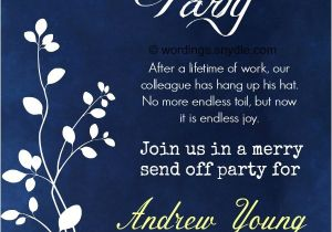 Retirement Party Invite Wording Retirement Party Invitation Wording Ideas and Samples