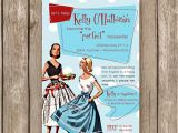 Retro Housewife Bridal Shower Invitations Items Similar to Bridal Shower Invitation Perfect
